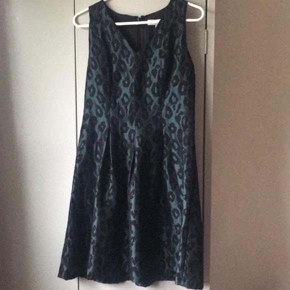 02c12fca96 Loft green black leopard print dress